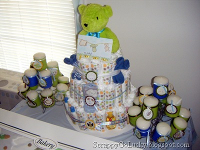 DIY Baby Shower Cake and Candles