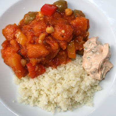 Spiced Butternut Tagine With Cauliflower Couscous