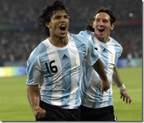 Aguero and Messi, Argentinian national team