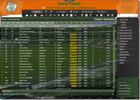 Flex Football Manager 2009 skin