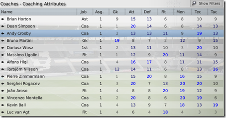 Hull coaches in Football Manager 2009