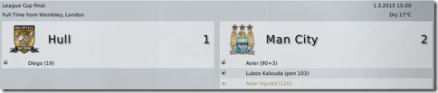 Hull - Manchester City 1:2, extra time