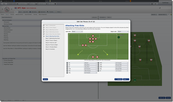 Free Kicks in Football Manager 2011