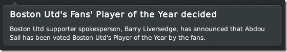 Abdou Sall - Fans' Player of the Year in FM 2011