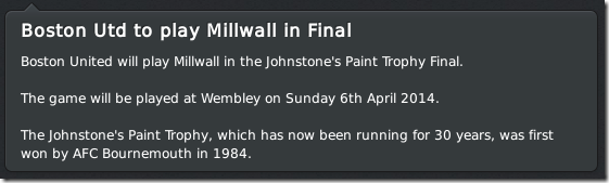 Millway in the JPT final, FM 11
