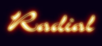 Logotipo creado con Archivo/Crear/Logotipos/Calor resplandeciente