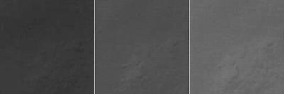 Descomposición RGB del recorte correspondiente a la órbita 533 (vista en escala de grises)