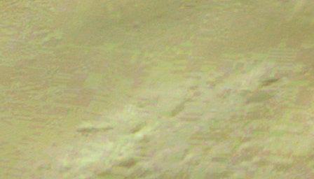 Cráter Hale - Ampliación de la imagen en perspectiva