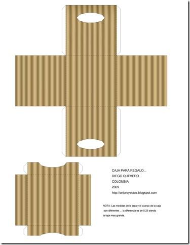 Como hacer cajas de carton corrugado para regalo imagui for Como hacer cajas de carton para regalo