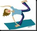 funny yoga clip art