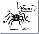 Boo Spider Clip Art