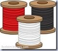 Thread Black Red White Clip Art