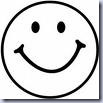 Smiley Black and White Clip Art