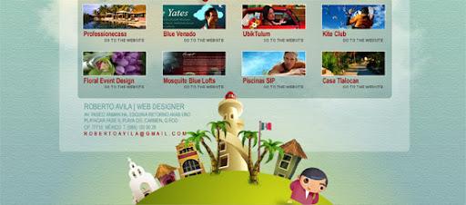 Roberto Avila - Inspiring cityscape in web design example