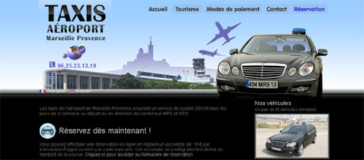 Taxi Aéroport International - Inspiring cityscape in web design example