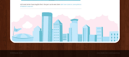 bsmalls design - Inspiring cityscape in web design example