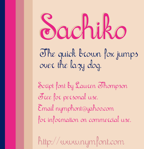 Sachiko Script Font Sample
