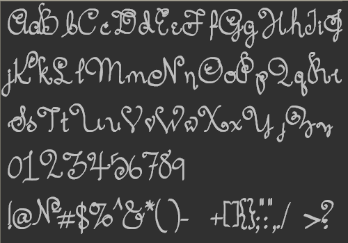 Font project Ramses the Eternal which actually ended up inspiring the Sachiko Script Font