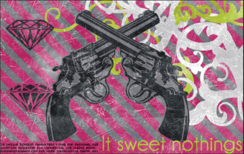 LT Sweet Nothings Dingbat Font Poster