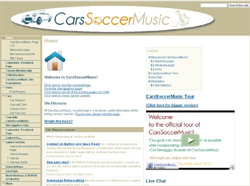 CarsSoccerMusic