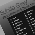 Subtle Grey: Free Social Network Icons