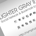 Lighter Gray: Free Social Network Icons