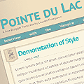 Pointe du Lac Blogger Template II