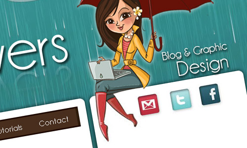 April Showers Blog Design
