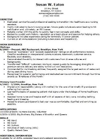 resume sample charge nurse