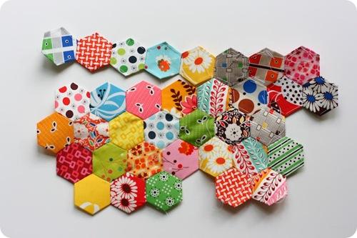 patchwork les hexagones
