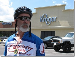 Zeke post-ride at Krogers