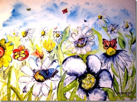 Butterflies and Flowers final painting small