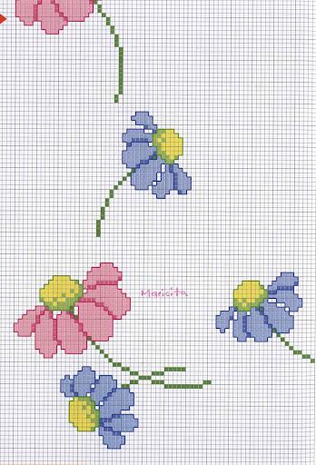 Un colorido contro con margaritas rosas y celestes, muy delicado Guarda%20flores1