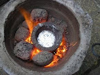 Flowerpot Furnace melting Aluminium