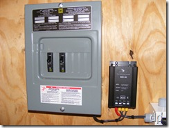 12 volt panel and 24-to-12 volt converter