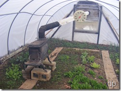 stove in greenhouse