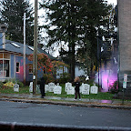 Collinsville Halloween party graveyard decorations