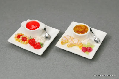 Paris Miniatures French Restaurant Desserts - Miniature Food - Emmaflam and Miniman