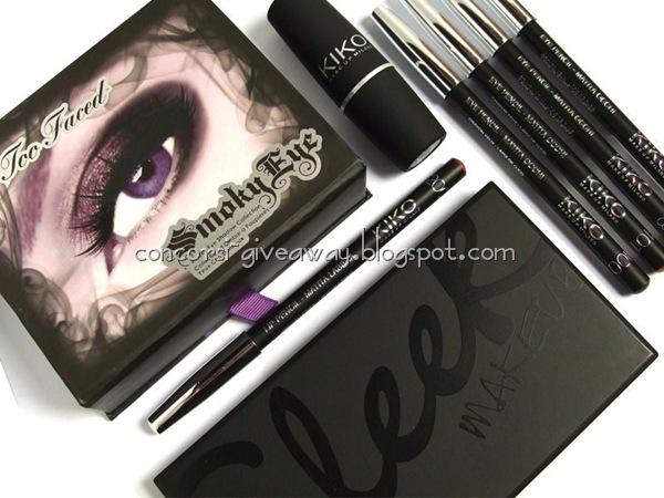 Giveaway-make-up-too-faced-sleek-kiko-packaging