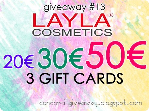 Giveaway-Layla-Cosmetics-3-buoni-sconto-shop-online