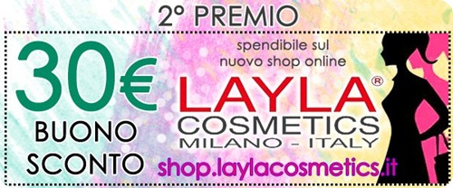 Giveaway-Layla-Cosmetics-buono-sconto-shop-online-30-euro