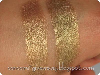 Giveaway-Minerale-Puro-make-up-Ombretto-Oroverde-Swatch-Asciutto-Bagnato