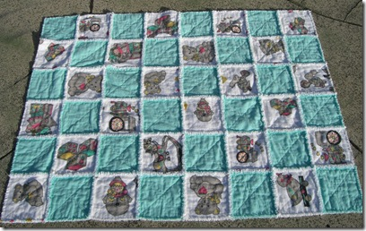 Fussy Cut Quilt as you go Raggy Quilt Sept 2010 001
