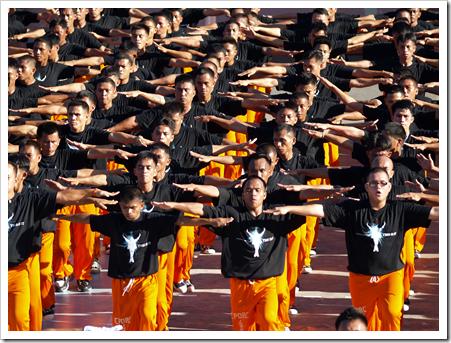 dansade fångar i Cebu