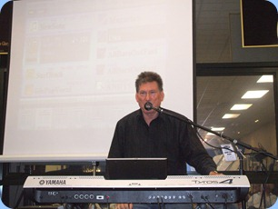 Murray Hancox wrapped-up the Tyros4 launch with some great songs