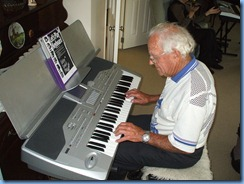 "Skip Eade enjoying the Korg Pa1X. He was playing along to an mp3 file of ""I love You Because"" replete with vocals over."