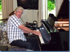 Our host, Ian Jackson, playing his lovely Yamaha grand piano