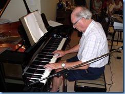 George Watt enjoying the lovely Yamaha grand piano
