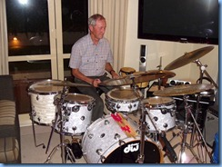 Just to let the 'misses' know he can drum well too, Brian Gunson made a great job of accompanying on the drums.