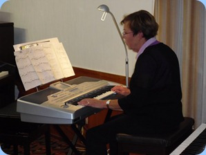 Yvonne Moller, played four great arrangements for us on her Korg Pa1X keyboard
